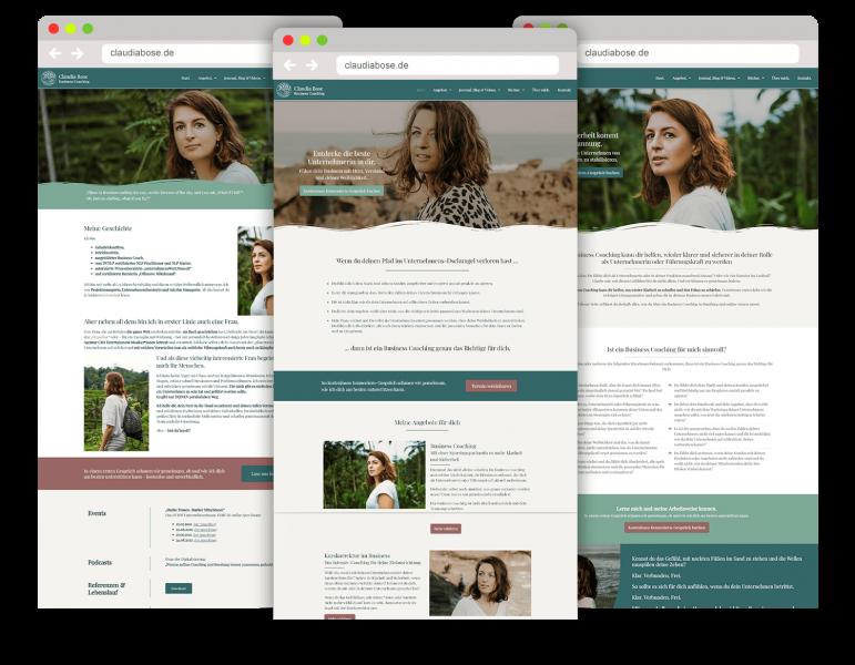 WordPress Webdesign Website Referenz Claudia Bose