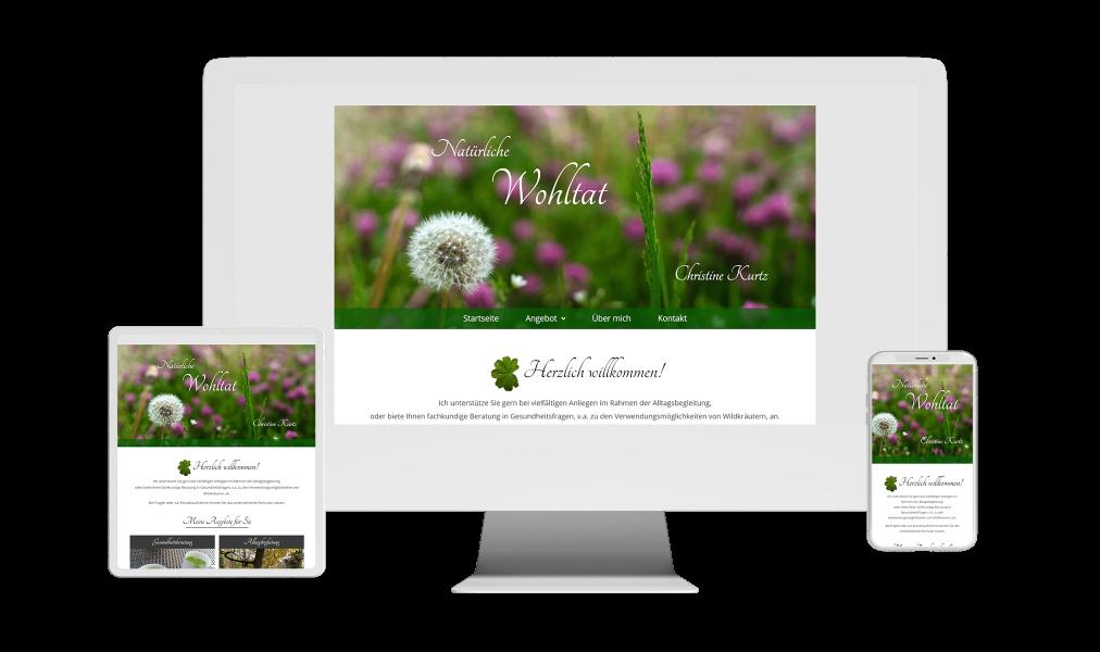 WordPress Webdesign Website Referenz Natürliche Wohltat