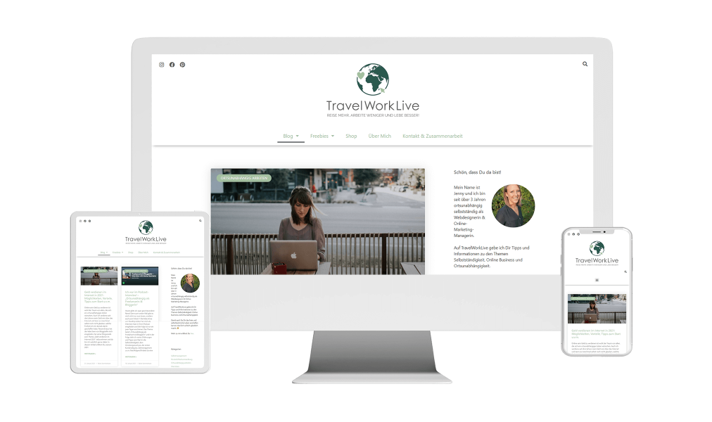 WordPress Webdesign Website Referenz TravelWorkLive