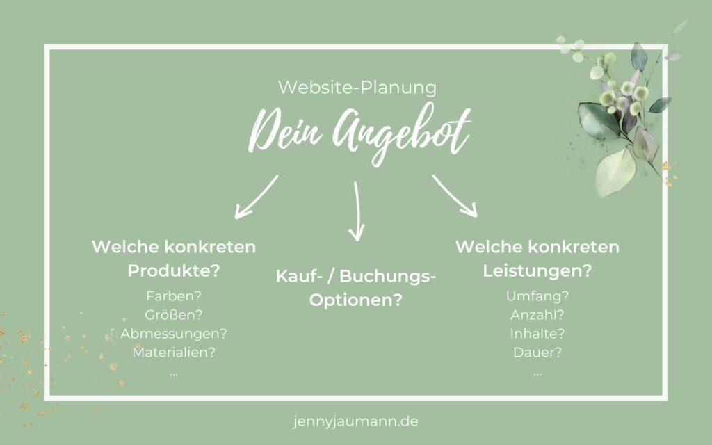 Website planen - Anleitung zur Website-Planung: Angebot