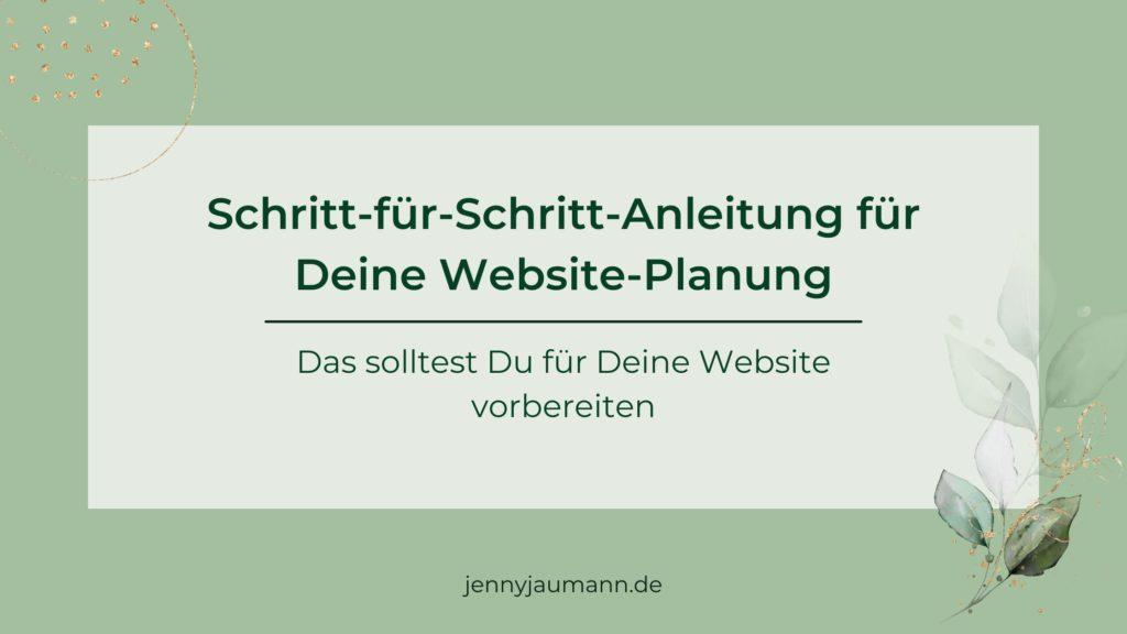 Website planen - Anleitung zur Website-Planung