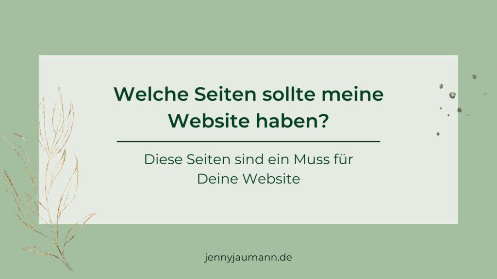 Welche Seiten sollte eine Website haben?