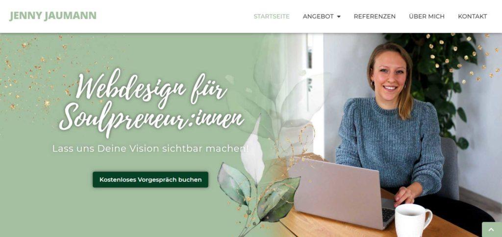 Welche Seiten auf Website? Above the fold
