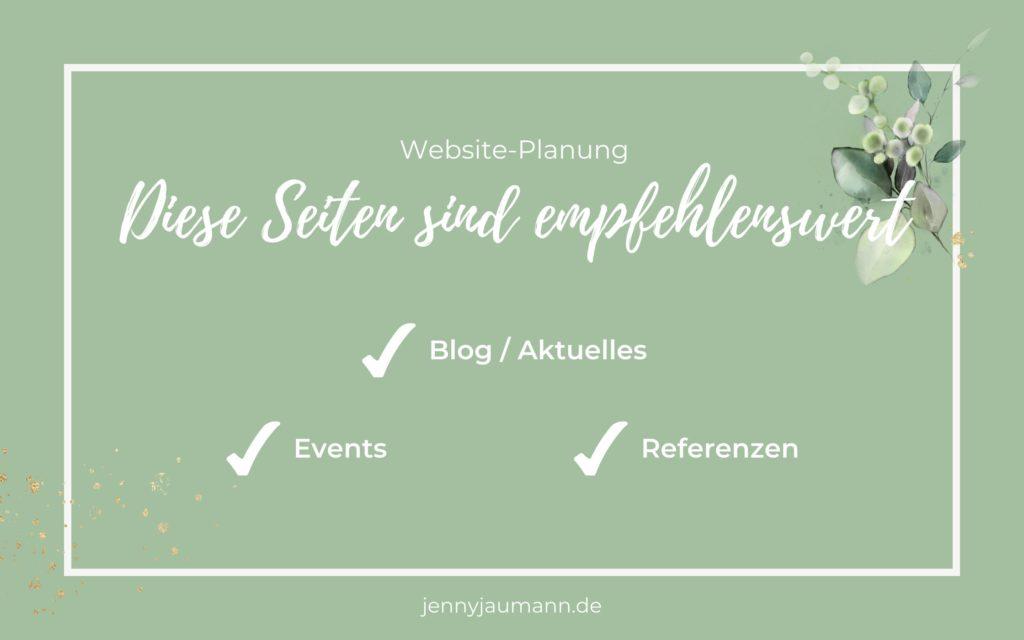 Welche Seiten sollte eine Website haben? Empfehlenswerte Seiten