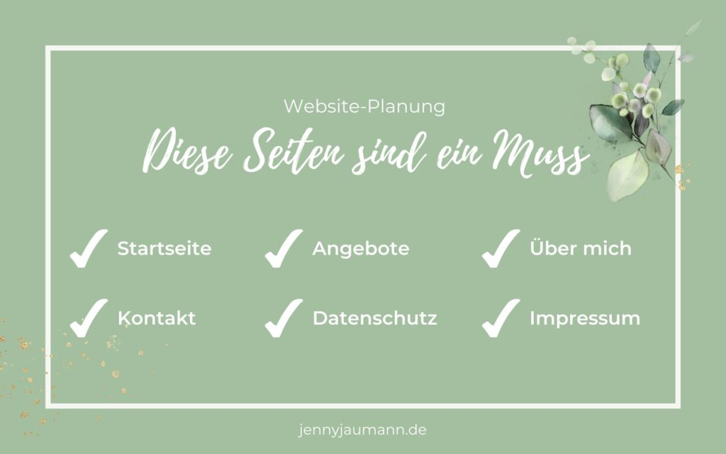 Welche Seiten sollte eine Website haben? Pflicht-Seiten