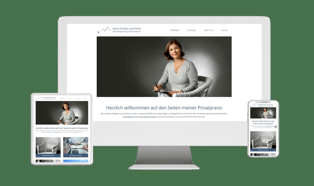 WordPress Webdesign Website Referenz Karen Leonhardt