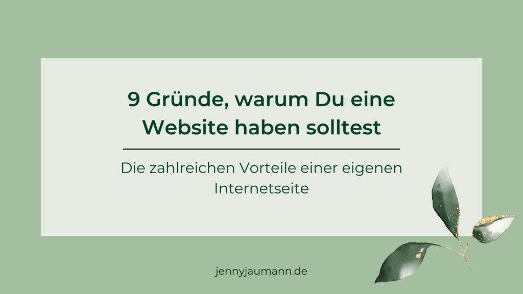 Warum brauche ich eine Website? Gründe für eine Website